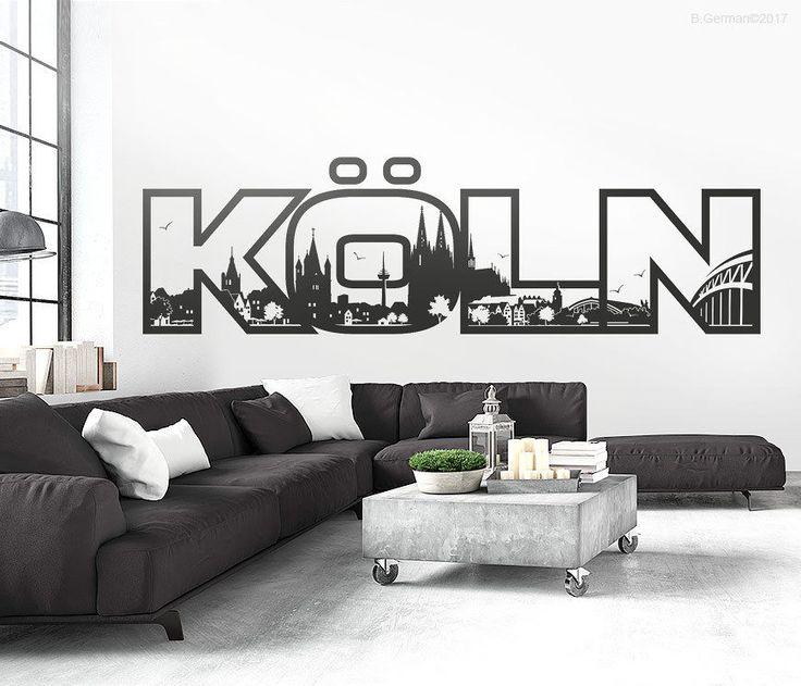 25+ melhores ideias de Skyline köln no Pinterest - wandtattoo für wohnzimmer