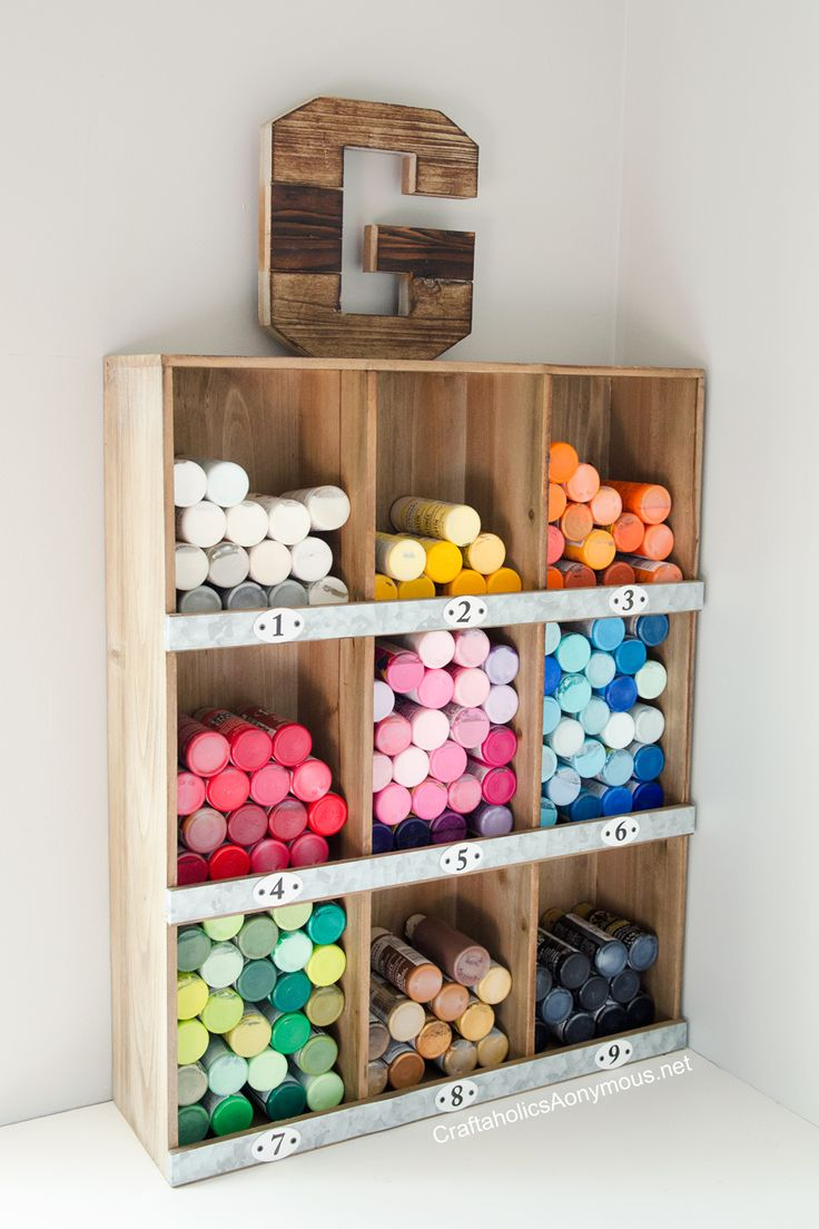 Paint for wood crafts - Craft Paint Storage Idea On Www Craftaholicsanonymous Net