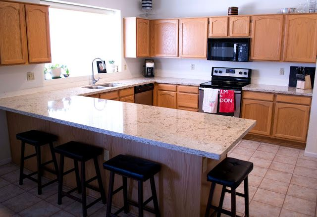 Cambria windmere quartz countertops with oak cabinets for Cambrian kitchen cabinets
