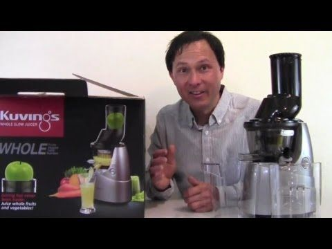 """▶ Kuvings Whole Slow Juicer with 3"""" Wide Feed Chute Unboxing Review - YouTube"""