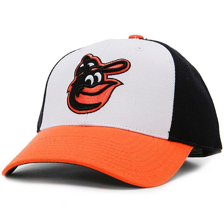 Baltimore Orioles American Needle 1975-88 Cooperstown Fitted Hat - Black/White