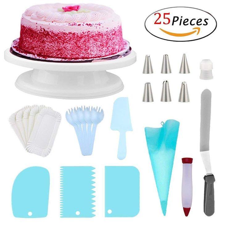 Amazon cake turntable set kit 25 baking accessories