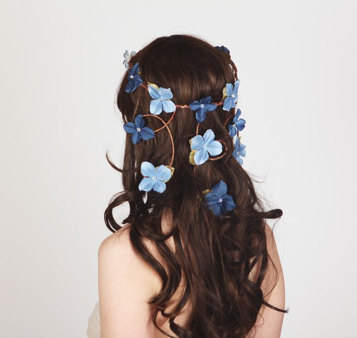 Cascading Vines  Flower Crown  Something by sweetlittlesparrow, $72.00