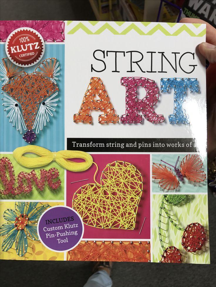 String art #klutz #gifts #toys #fun #crafts #crafty #diy #kids #stringart #imagination #imaginationstation