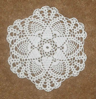 easy crochet dollies patterns | Crochet Petite Seasonal Doily Patterns - Petite Autumn Doily Pattern