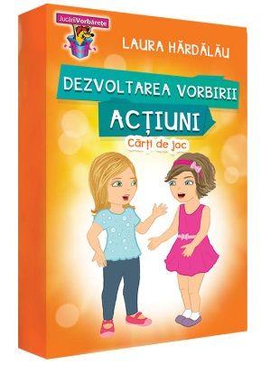 Reprezinta un suport vizual util pentru dezvoltarea vorbirii copiilor.  Contine 10 jocuri logopedice care vor ajuta copiii sa comunice verbal mai mult si mai usor.