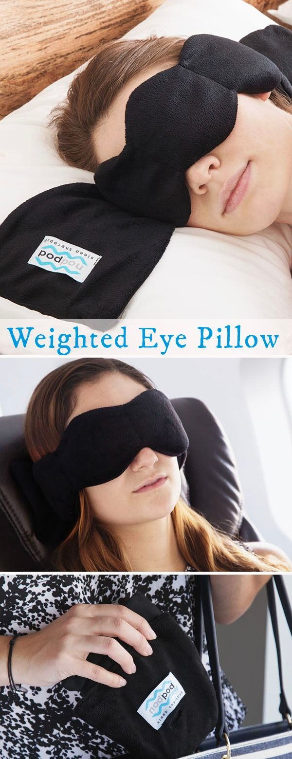 Create the pressure-perfect conditions for a good night's rest. This weighted sleeping pillow blocks out the light and uses touch therapy to release tension. Great for traveling and to relieve tension headaches and migraines.