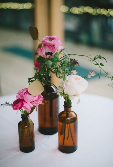 Brides: Simple Floral Wedding Centerpieces #6 - so easy DIY flowers from local hardware store