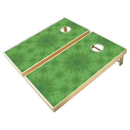 Green abstract cool pattern cornhole set - click to get yours right now!