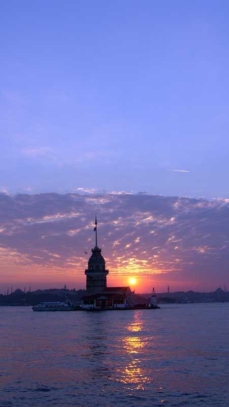 Kız Kulesi Ve Gün Batımı