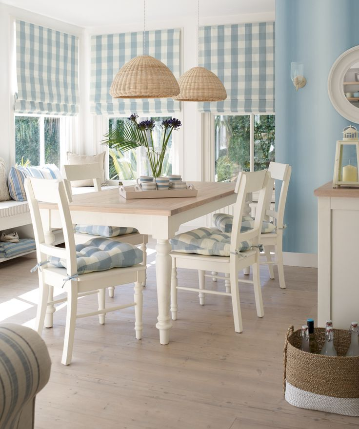NEW Laura Ashley Coastal range. Love the window treatments and chair pads....just in a different color....