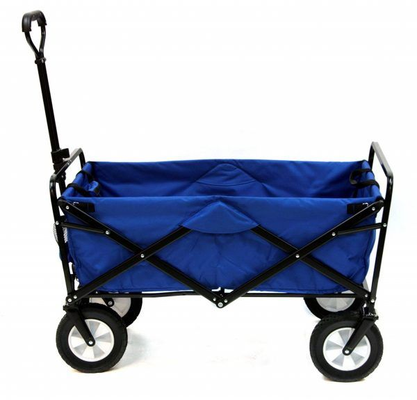 1 Mac Sports Collapsible Folding Outdoor Utility Wagon Blue Utility Wagon Best Wagons Folding Wagon