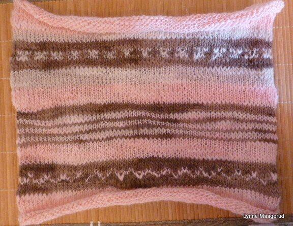 Handknitted wool cowl in pastel colors. by LynnesEbooks on Etsy