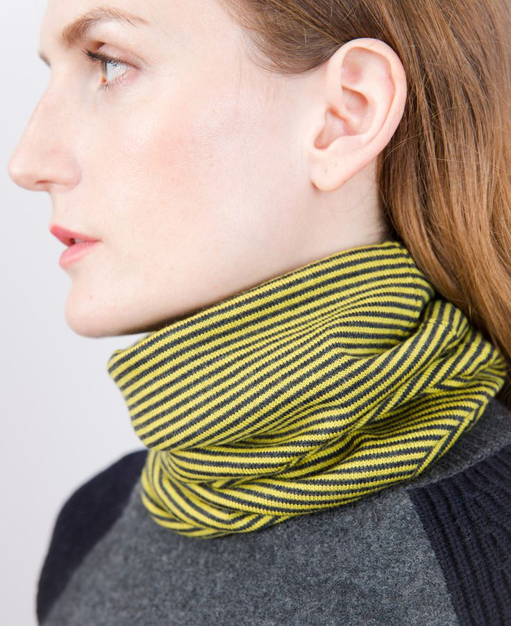 Merino Neckwarmer - Pollen Stripe // Findra  100% merino slim neckwarmer. Light enough for performance riding and warm enough for chilly Spring mornings. On thecyclingstore.cc now