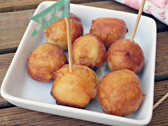 ¡Y muchas cosas bonitas!: Receta: Bolas de Donut rellenas