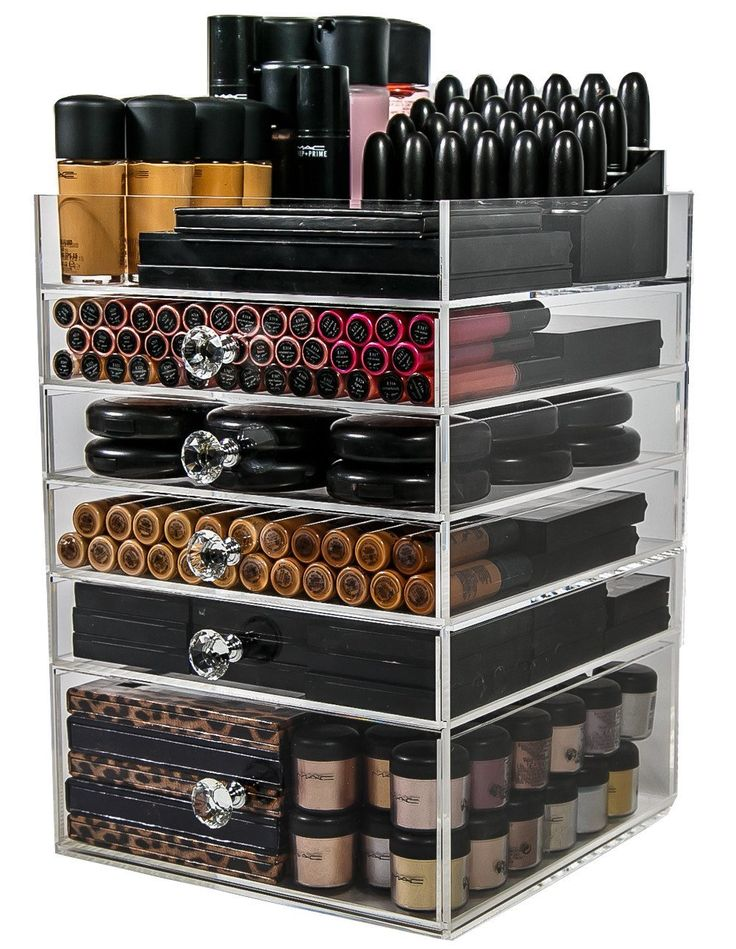 Amazon.com: Acrylic Makeup Organizer Cube | 5 Drawers Storage Box For Vanity Tables | By N2 Makeup Co: Beauty