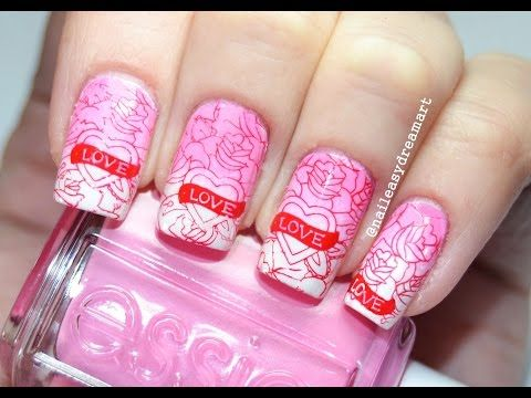 ♥ Valentine's Day Nail Art ♥ Маникюр на День Святого Валентина - YouTube