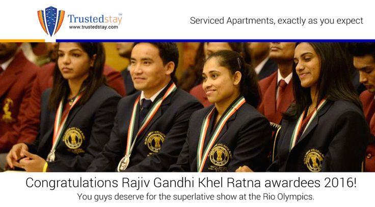 Congratulations Rajiv Gandhi Khel Ratna awardees 2016! You guys deserve for the superlative show at the Rio Olympics.
