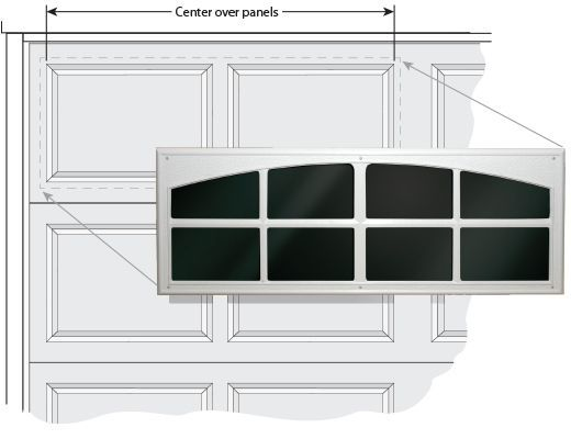 Decorative garage door windows add sophistication to any garage door while giving the illusion of real windows. Garage décor windows are easy to install!