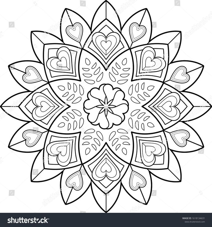 Big Mandala Art Kids Meditation Color ภาพประกอบสต อก 1618134631 ม นดาลา ภาพประกอบ