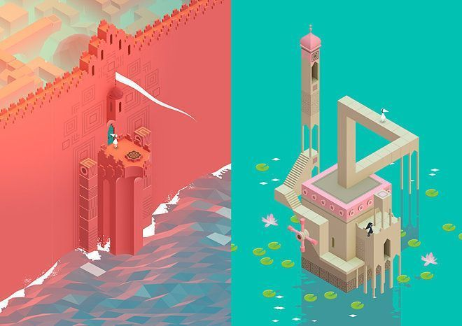 Spotting real-world architecture in Monument Valley