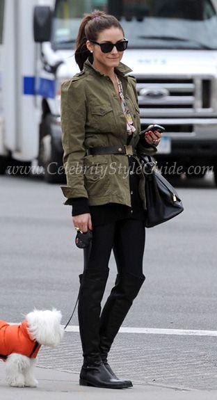 Olivia Palermo seen walking her dog 04/13/10 in New York City  *Image courtesy SplashNews*