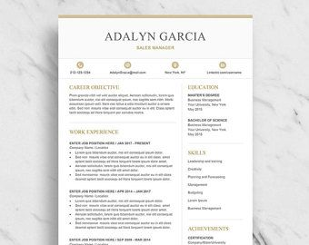 Professional Resume Template for Word | Modern Resume Design | CV Template for Word | Two Page Resume Download | Creative Resume Template