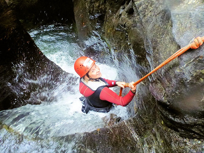 CANYONING Kronburgklamm mit www.Rafting-Oetztal.at , photo copyright by wasser-c-raft