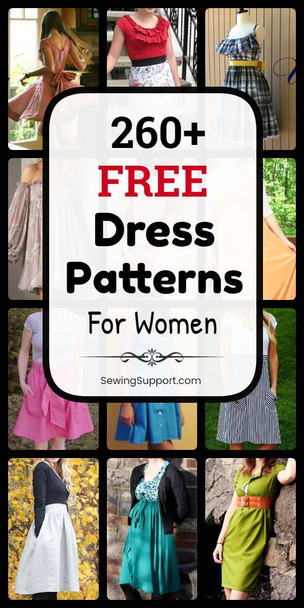 Dress pattern for women: Over 260 free dress patterns, sewing instructions and di …   – Free Sewing Patterns