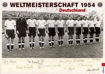 1954 Duitsland WK voetbal