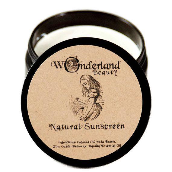 Natural Sunscreen Chemical Free Sunscreen  All Natural