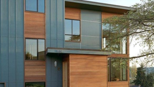 Architecture Sweet Looking Cheap Siding Options Modern Home With