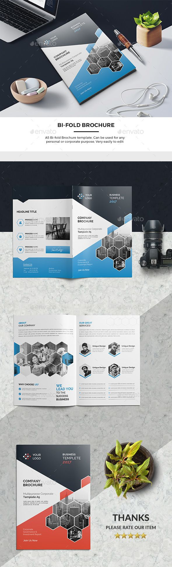 Corporate Bi-Fold Brochure 03 - #Corporate #Brochures Download here: https://graphicriver.net/item/corporate-bifold-brochure-03/19498129?ref=alena994