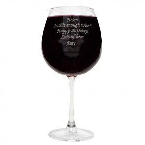 whole bottle of wine in one glass