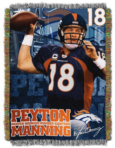 NFL Denver Broncos Peyton Manning 48-Inch-by-60-Inch Acrylic Player Tapestry