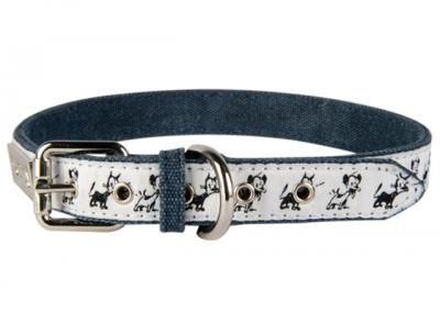 Mutts panta metallisoljella, denim / metal buckle collar, denim #muurla #mutts #muttsmuurla #denim #comic #collar #black&white #panta