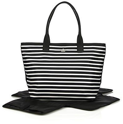 kate spade new york striped baby bag baby gear pinterest babies kate spade and new york. Black Bedroom Furniture Sets. Home Design Ideas