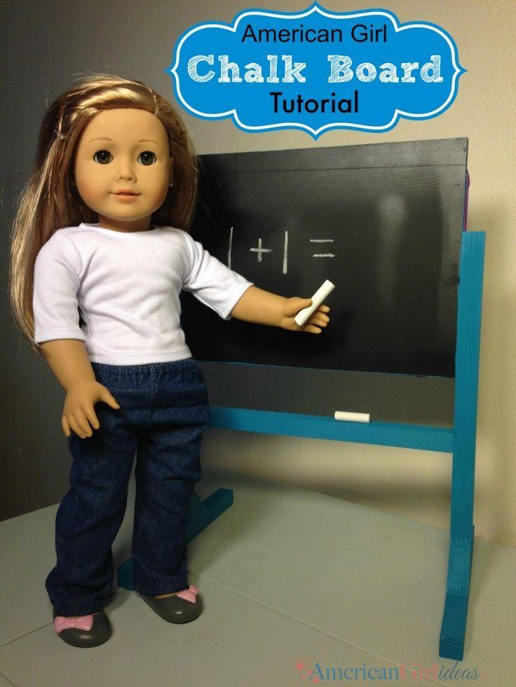 How to Make an American Girl Chalk Board/White Board