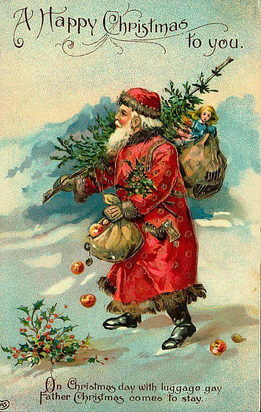 vintage santas | Santa Claus Vintage 31, Free Wallpapers, Free Desktop Wallpapers, HD ...