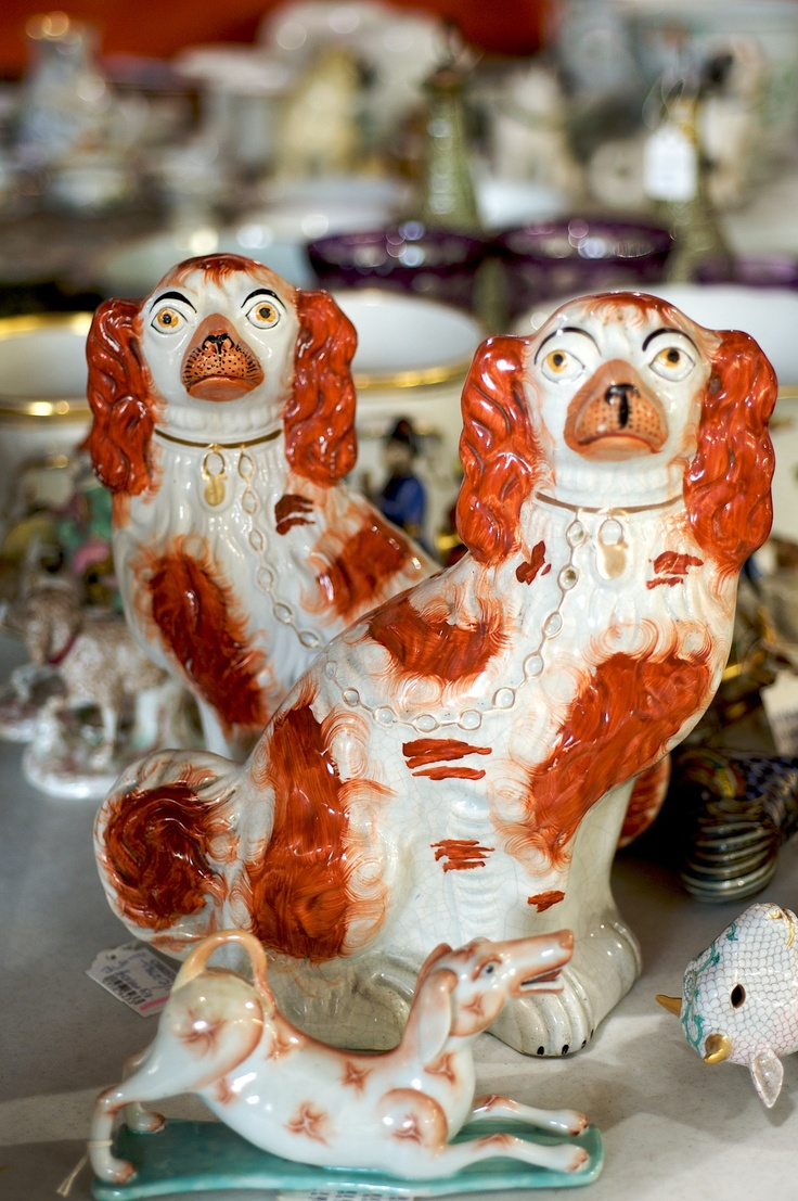 Staffordshire spaniels @ Christie's Interiors (Photography by Carol Dronsfield)