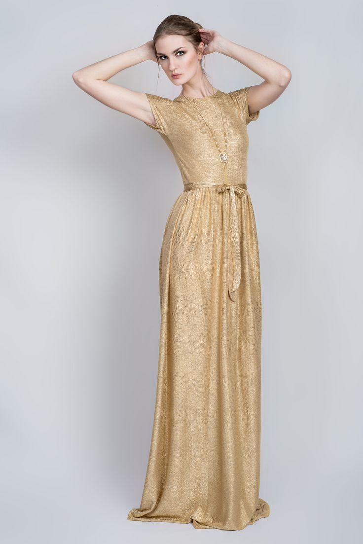 Золотое платье. трикотаж | «Ламбада-маркет»