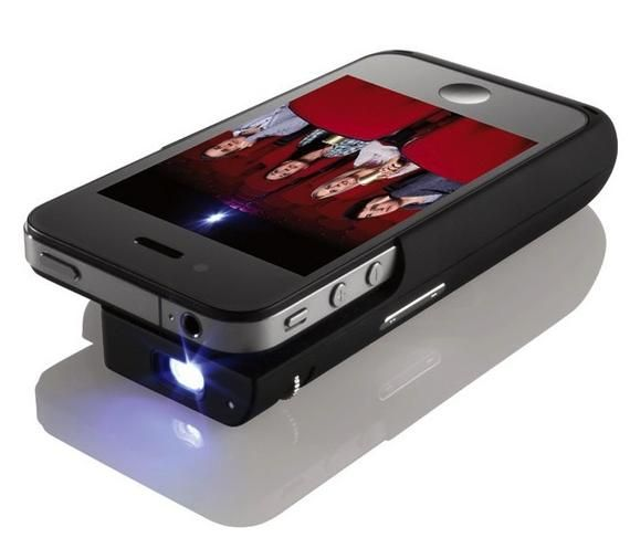 A retractable dock on Micron Technology's upcoming Pop Video pico projector allows you to clip the unit onto your iPhone or iPod Touch.