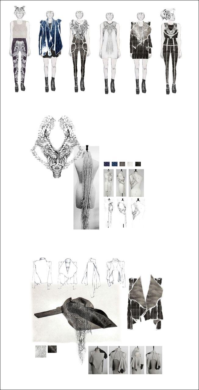 namma rietti knited textiles & fashion design sketchbook