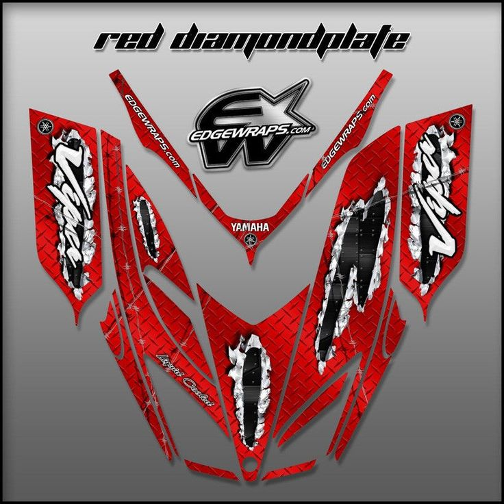 Sled Wrap Snowmobile Decals Graphics fits Yamaha Viper 02-06 #Edgewraps
