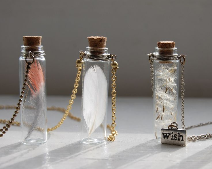 Love this idea for putting little things you love into mini bottles to wear as a necklace.