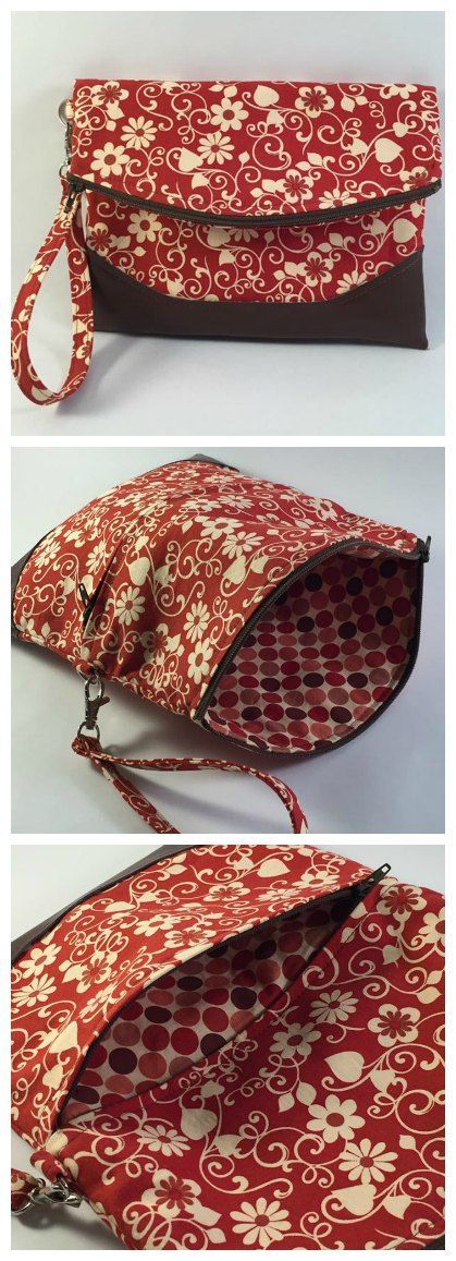 Free foldover clutch purse sewing pattern. The Heidi bag from Swoon patterns. Photos by Tonya Self Allen