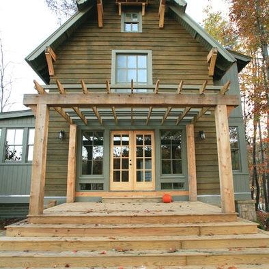 green stain, gray trim: Silverock Cove, Design Ideas, Outdoor, Traditional Exterior, Pergola, Photo