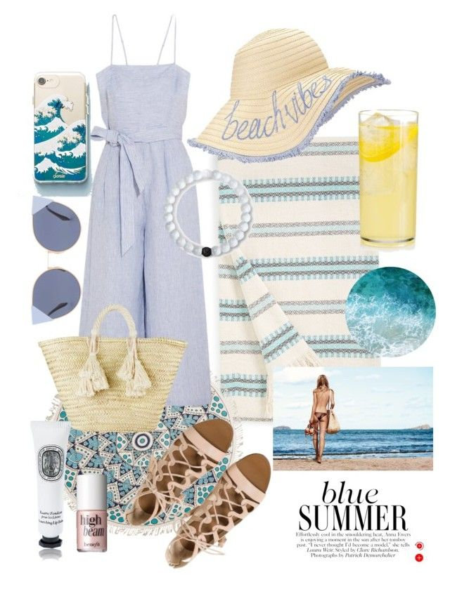 """-indy- // beach vibes"" by indiravidya on Polyvore featuring Señor Lopez, Billabong, J.Crew, Miss Selfridge, Giselle, Sonix, Fendi, Lokai, Diptyque and Benefit"