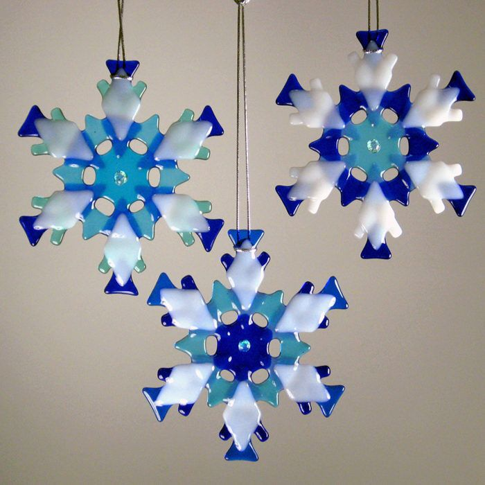 Snowflakes- Blue Ornament Mix