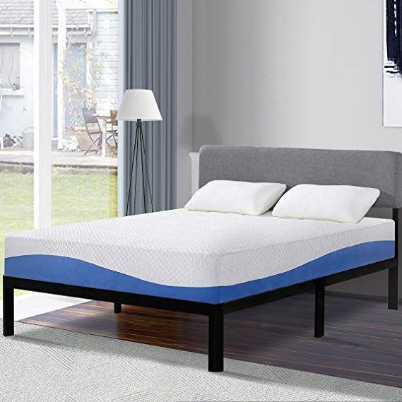 Olee Sleep 10 Inch Gel Infused Layer Top Memory Foam Mattress Blue Twin Top Memory Foam Mattress Foam Mattress Mattress